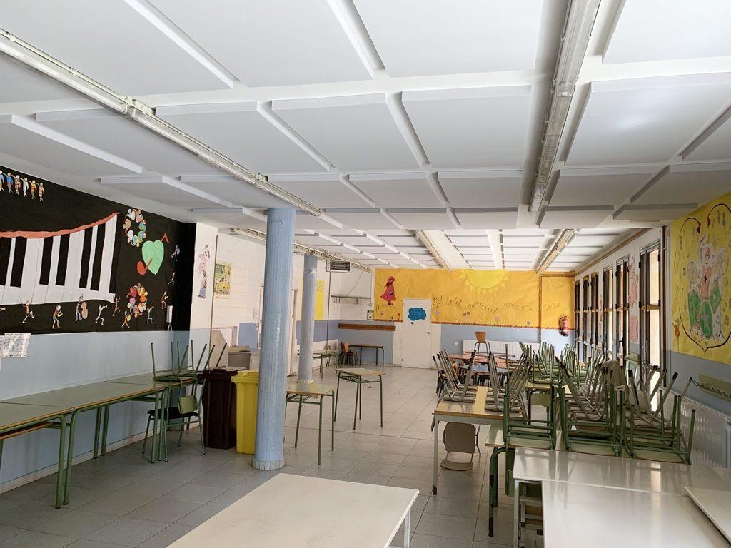Proyecto de acondicionamiento acústico escuela Pompeu Fabra en Sant Adrià del Besòs