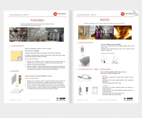 Guía instalación paneles y bafles Sontect